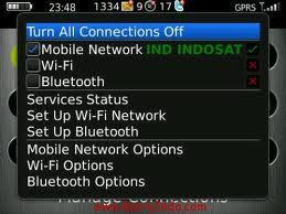 cara mengaktifkan GPRS blackberry